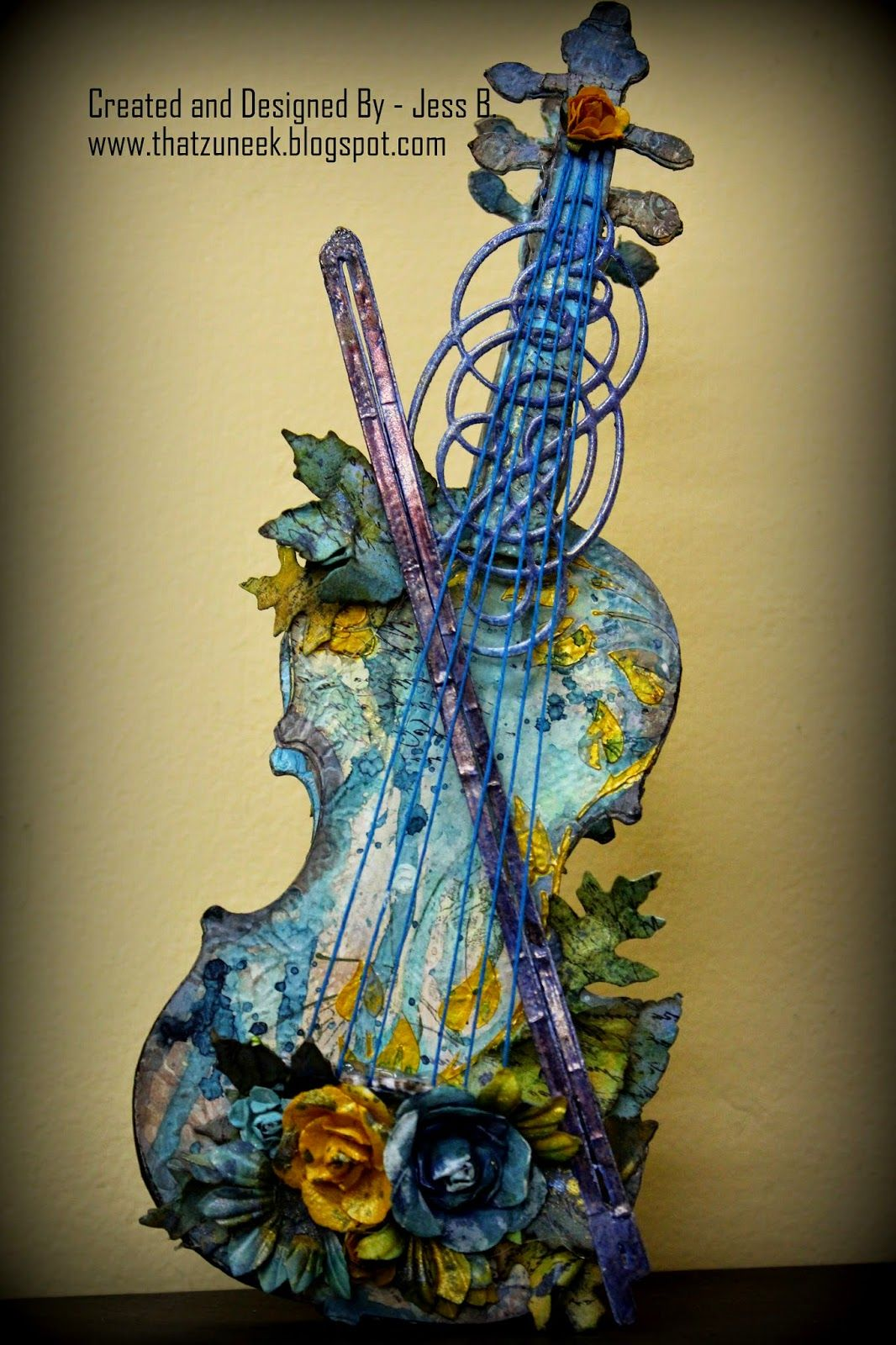 Mixed Media Violin; altered violin | mixed media delights ...