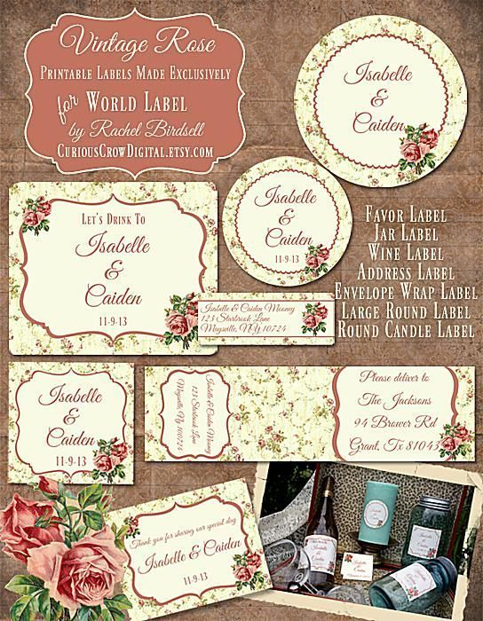 free wedding labels for favors invitations and other diy projects