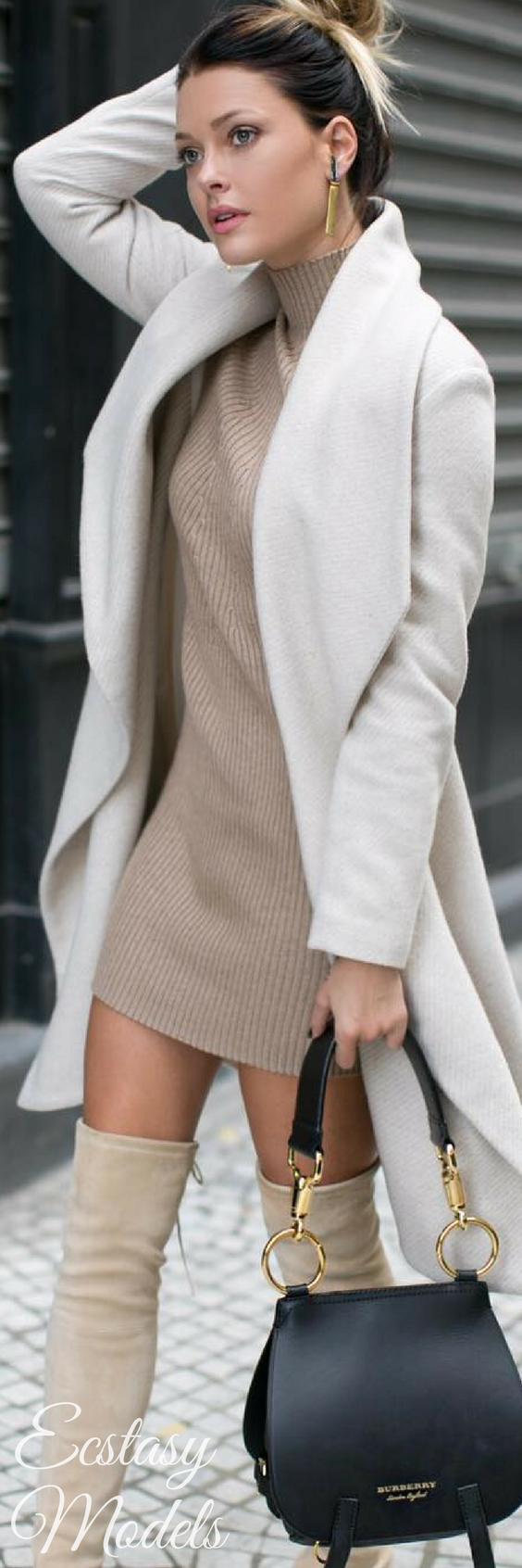 eb5cf5c1e2bf4 Mini vestido de invierno Como Combinar