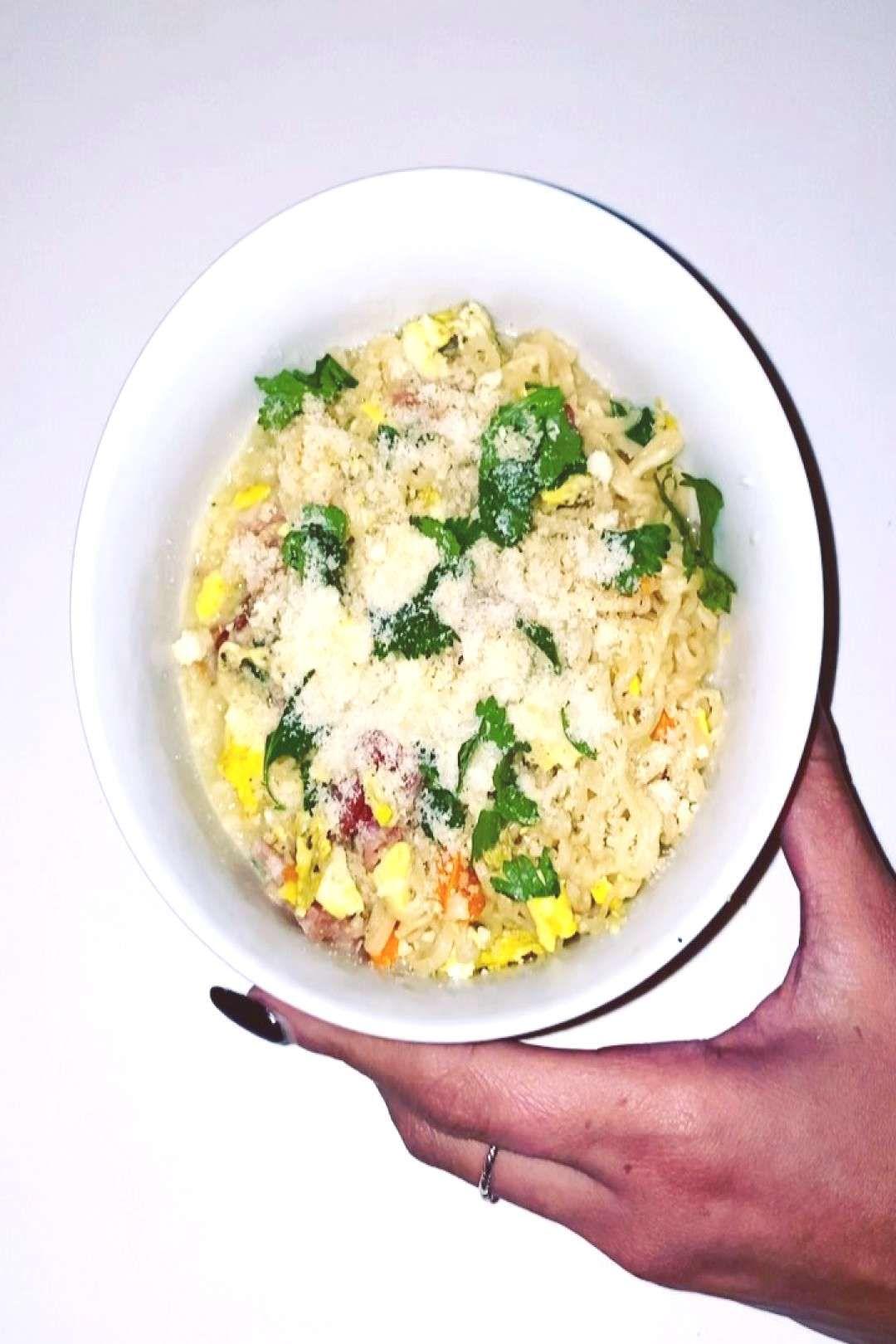 #ramennoodles #parmesan #cheese #butter #pepper #bacon #eggs #salt #food #RamenNoodles eggs, parmesan cheese, bacon, butter, salt & pepperYou can find Ramen noodles and more on our website.#RamenNoodles eggs, parmesan cheese, bacon, butter...