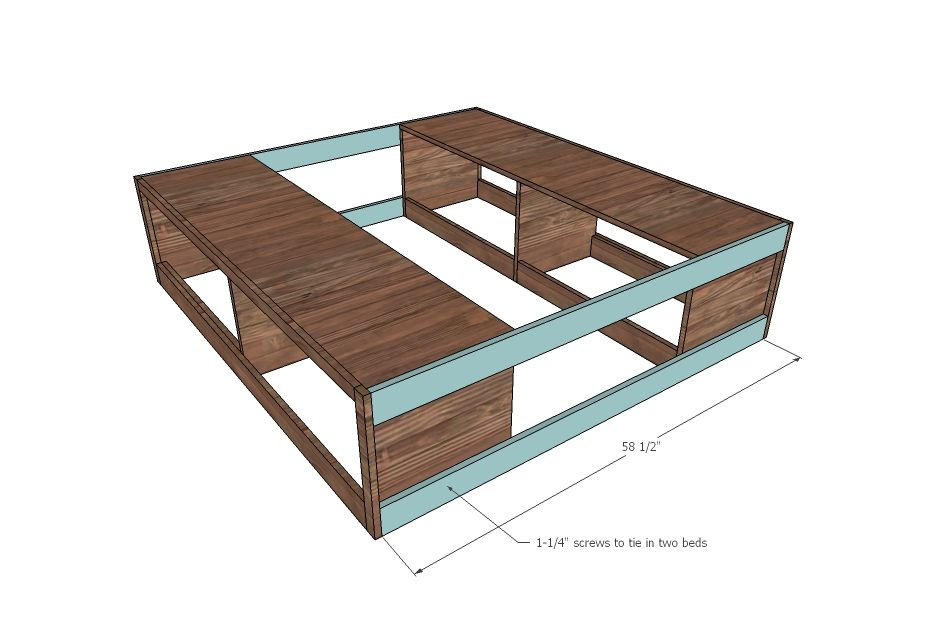Ana White   Build a Brandy Scrap Wood Storage Bed with Drawers ...