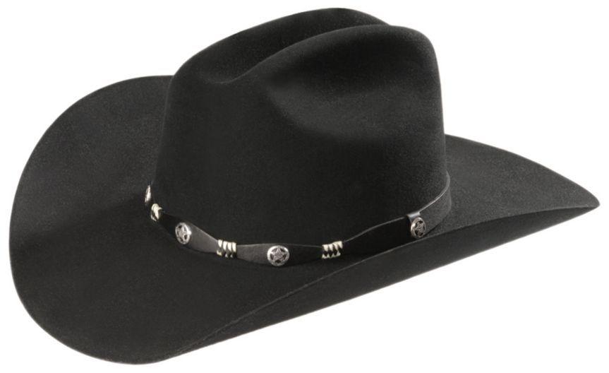 baa59a2db8c4c Resistol Black 6X Texas Ranger Fur Felt Cowboy Hat - Sheplers ...