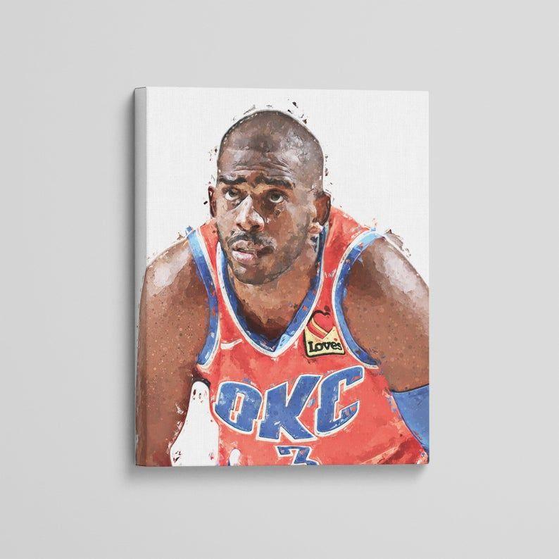 Chris Paul Canvas Oklahoma City Thunder Art Print