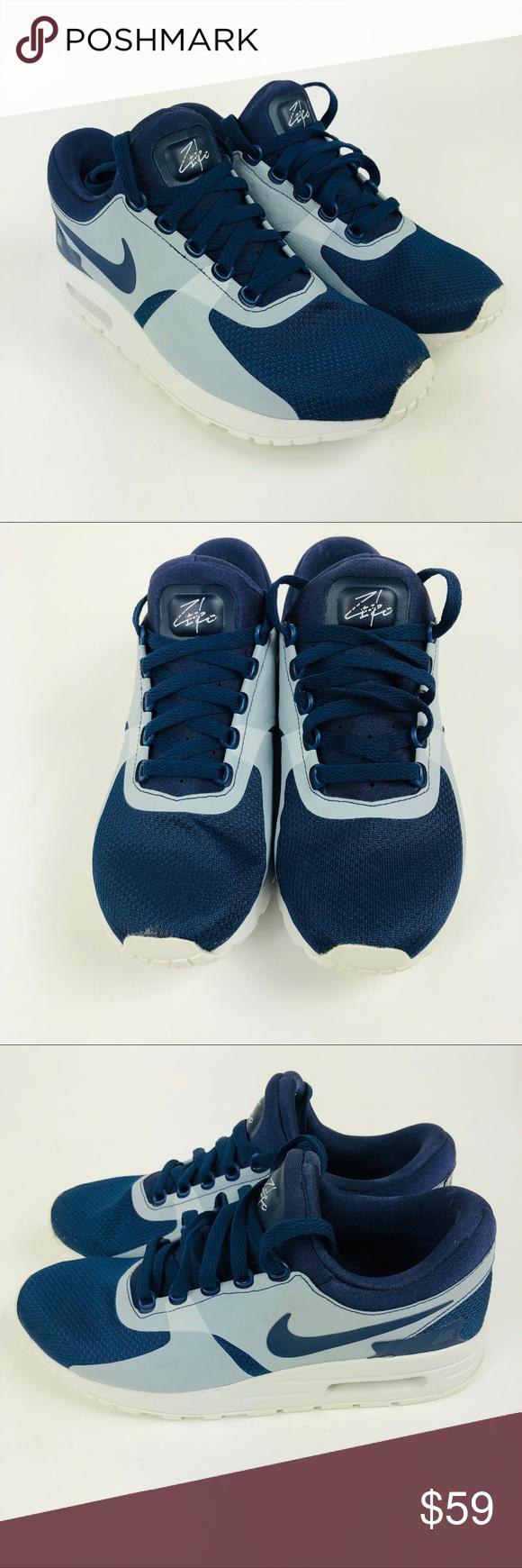 Nike Air Max Zero Essential GS 6.5Y Blue White New Nike Air