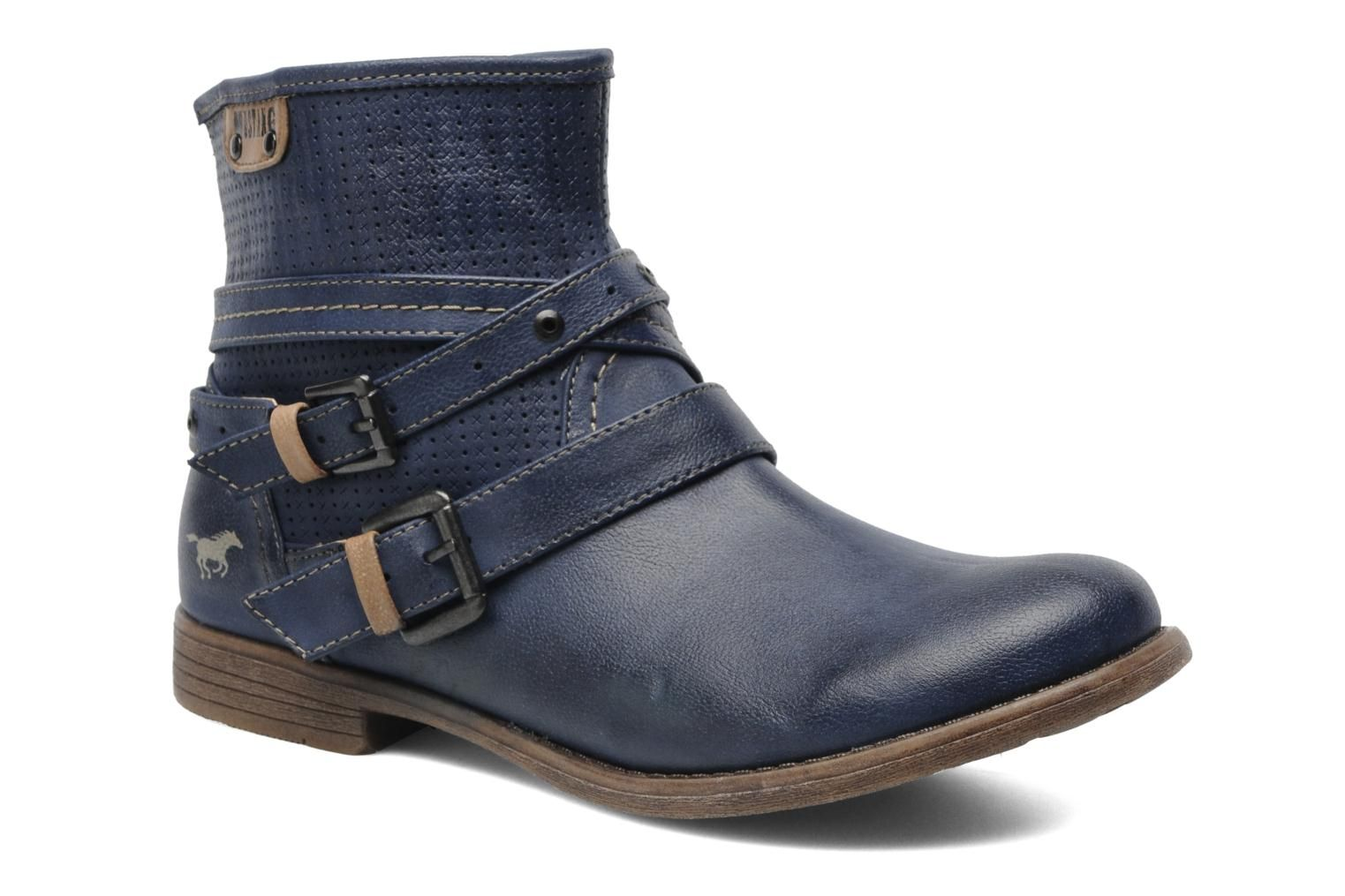 Lanian by Mustang shoes (Blue)   Sarenza UK   Your Ankle boots Lanian  Mustang shoes delivered for Free 83401af6fce1