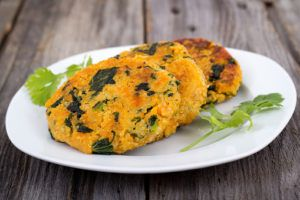 Nutrisystem provides a delicious and healthy Sweet Potato & Corn Veggie Burger recipe.