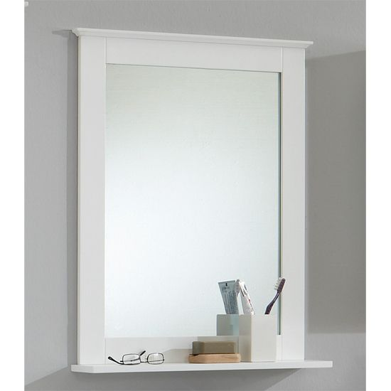 Stockholm3 White Bathroom Mirror With Shelf Wall Mirrors Furniture