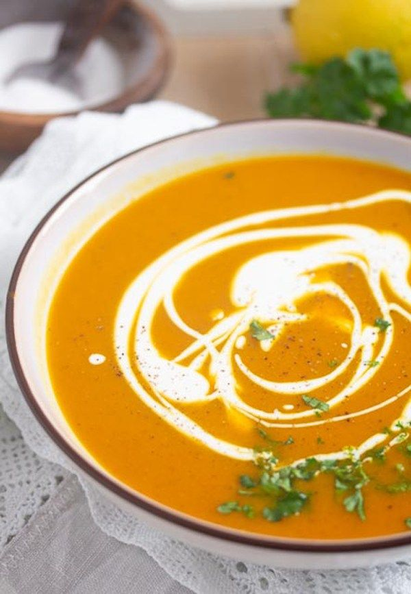 Vegan Butternut Squash Soup with Coconut Milk and Curry