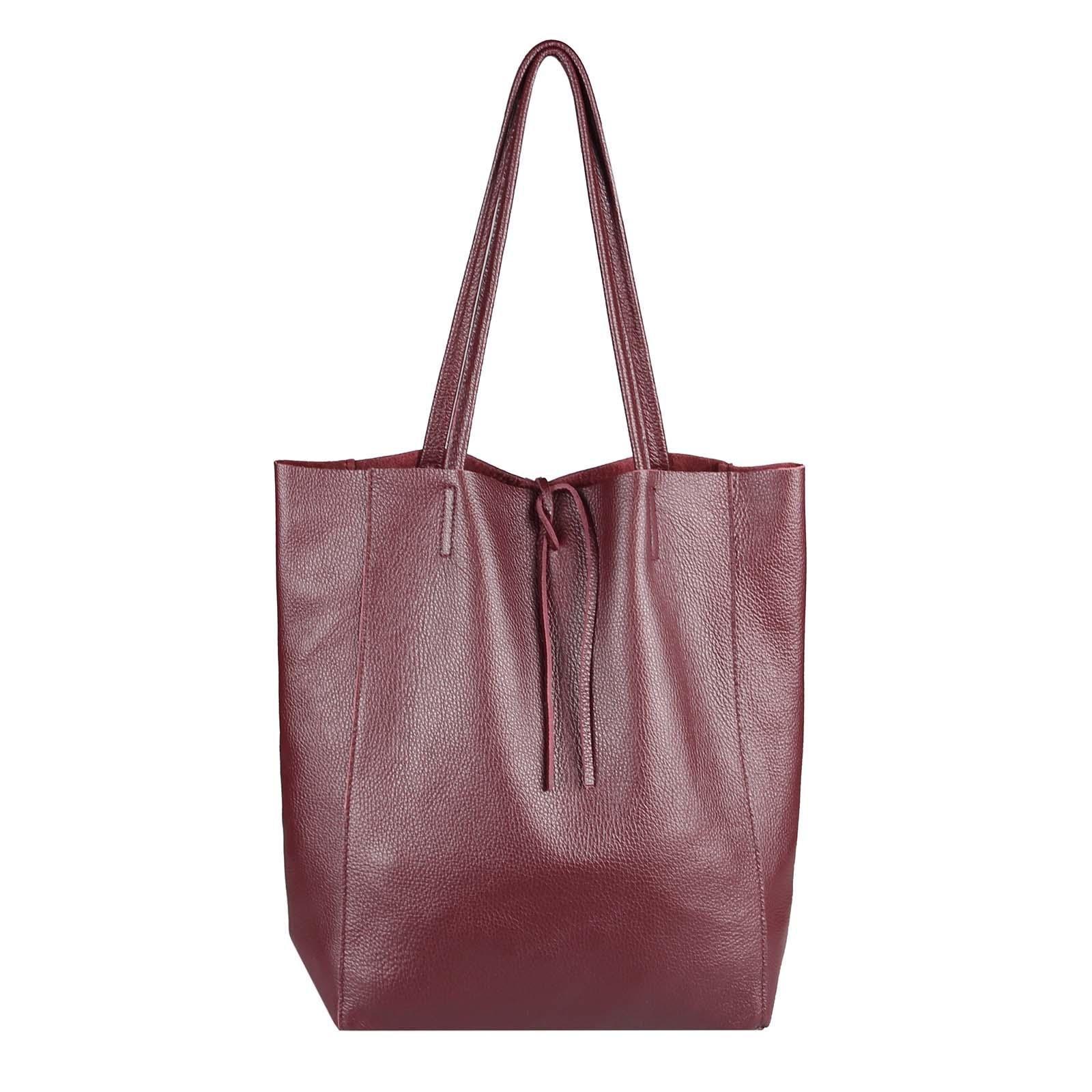 ccbd2483b1ada OBC Made in Italy DAMEN LEDER TASCHE DIN-A4 Shopper Schultertasche  Henkeltasche Tote Bag Metallic Handtasche Umhängetasche Beuteltasche…