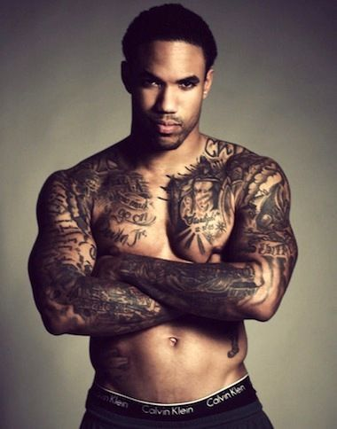 Black Men With Tattoos : black, tattoos, Fashion