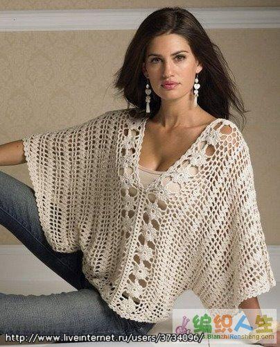 ganchos kimono con capucha. ESTUPENDO! | Suéteres | Pinterest ...