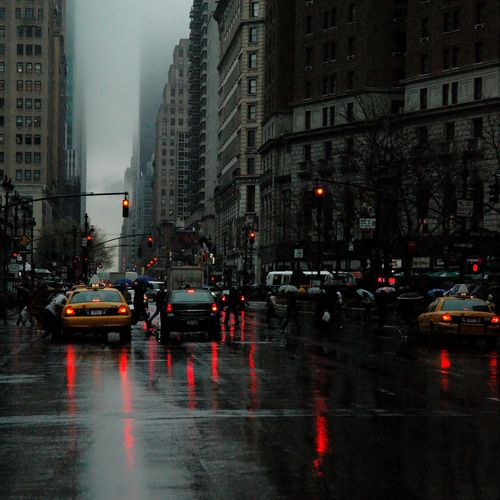 Gloomy Day On Broadway I Miss Weather Like This So Much Dark City City Aesthetic Rainy City