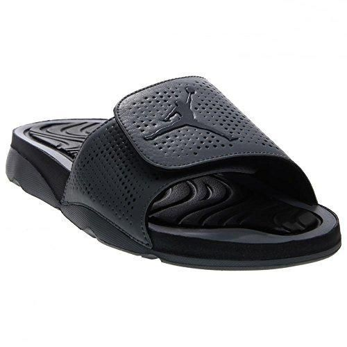 78b7a58a63c976 Jordan  Nike 820257-003  Jordan Hydro 5 Grey Black Retro Slipper Sandal Men  Size (US Men 10)