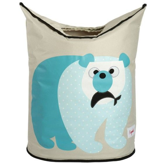 3 Sprouts Laundry Hamper - polar bear