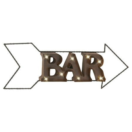 Featuring an arrow design to direct your guests to the game room or home bar, this retro marquee light brings vintaged appeal to your home. ...