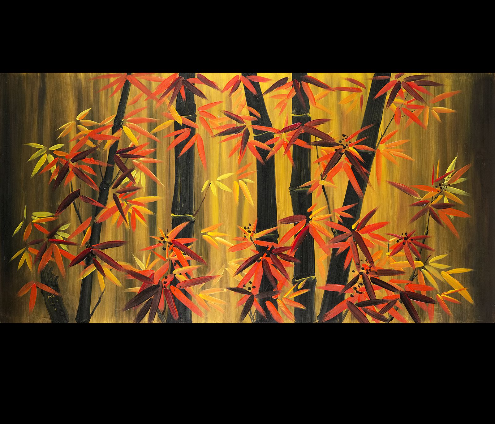 If you place feng shui bamboo paintings where chi does not for Posters feng shui
