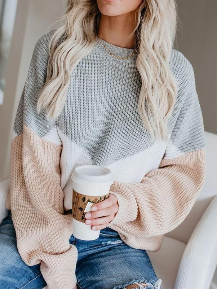 Thin Round Neck Standard Sweater