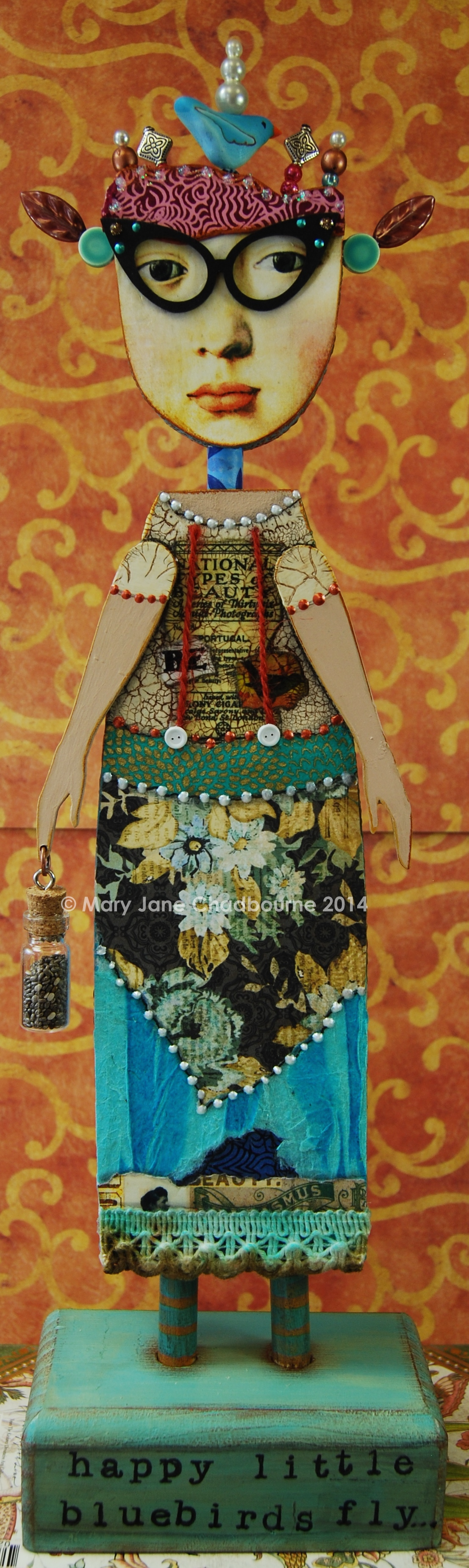"""From """"The Imaginarium - Anthology of an Art Doll"""", an online class this summer on atozinnia.org"""