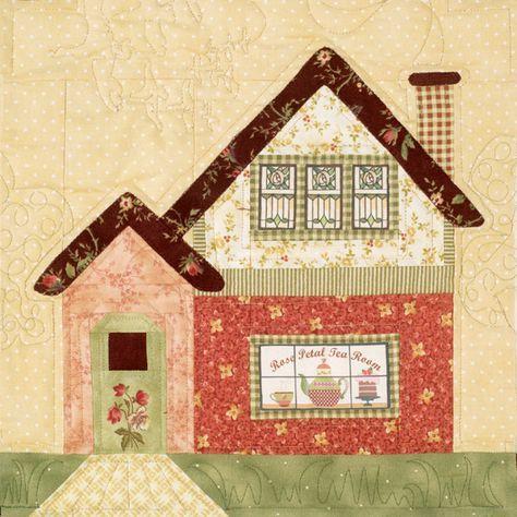 Pin von Roswitha Theus auf Häuser | House quilt block ...