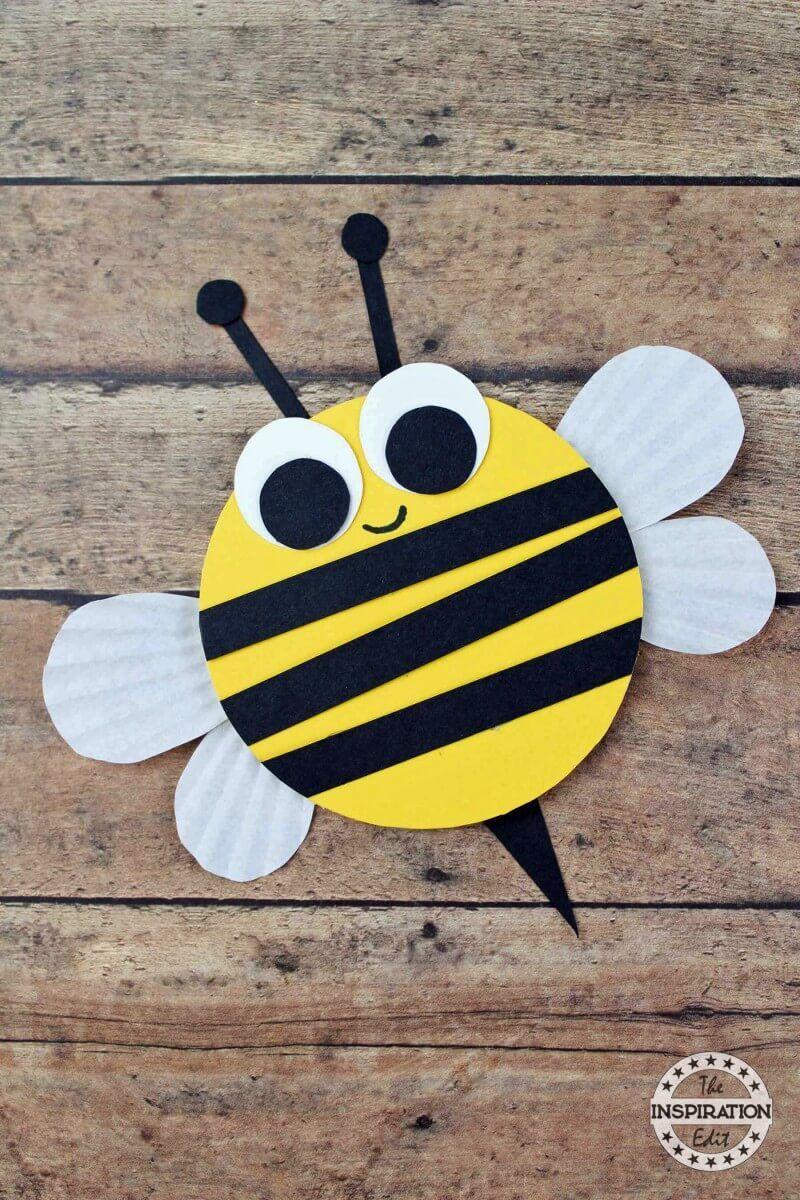 Wooden Craft Bumble Bees For Kids | Bee crafts for kids, Bee ...