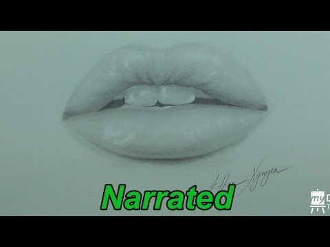 How To Draw Realistic Lips Glossy Lips My Drawing Tutorials