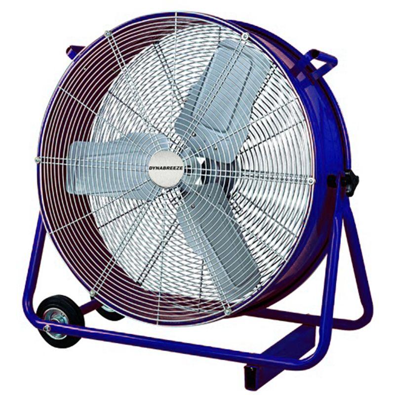 Warehouse Floor Fans : Fan drum industrial dynabreeze mm blue