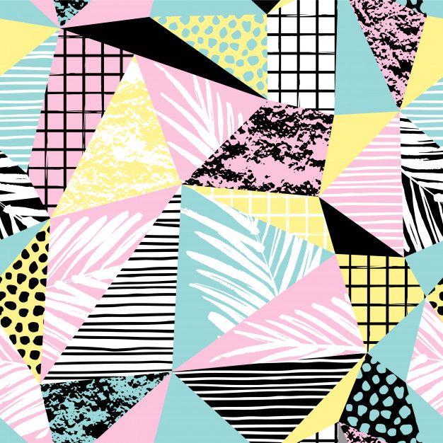 4cd1e1b121 Descarga gratis vectores de Moda exótica de patrones sin fisuras con la  palma y elementos geométricos