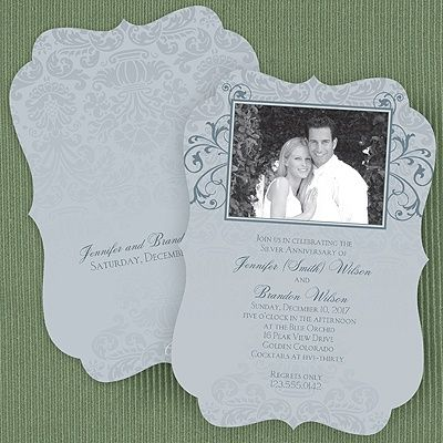 25th Silver Wedding Anniversary Photo Invitation http://partyblock.carlsoncraft.com/3166-NKP28187-Silver-Wedding-Anniversary--Invitation.pro