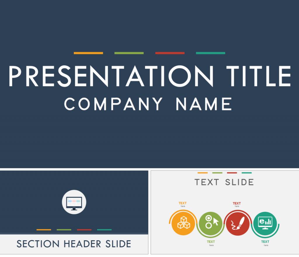 flat design powerpoint template | microsoft products | pinterest, Presentation templates