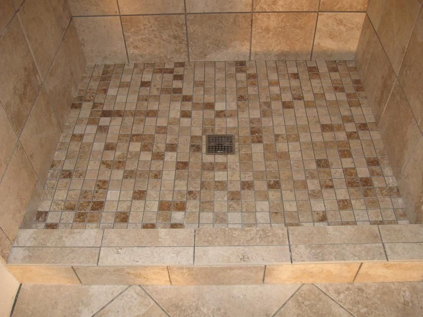 tiled shower stalls