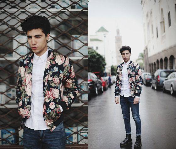 Flower Jacket Choies, Shirt Zara, Jeans Cheap Monday, Dr