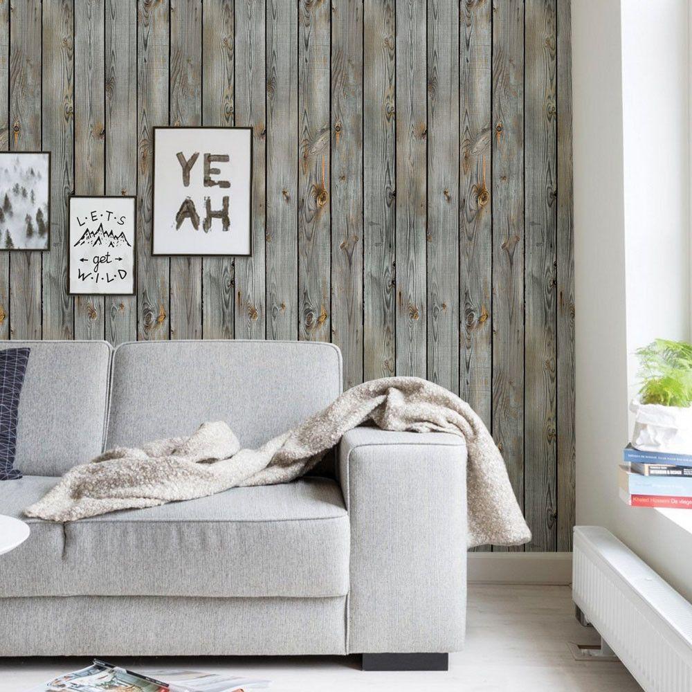 Vintage Wood Wallpaper Peel and Stick Wood wallpaper