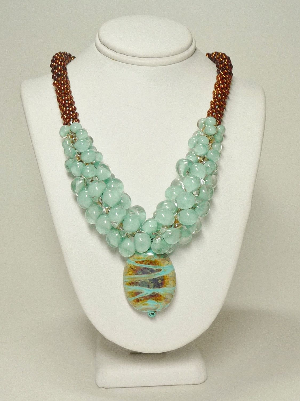 Bronze Kumihimo Necklace