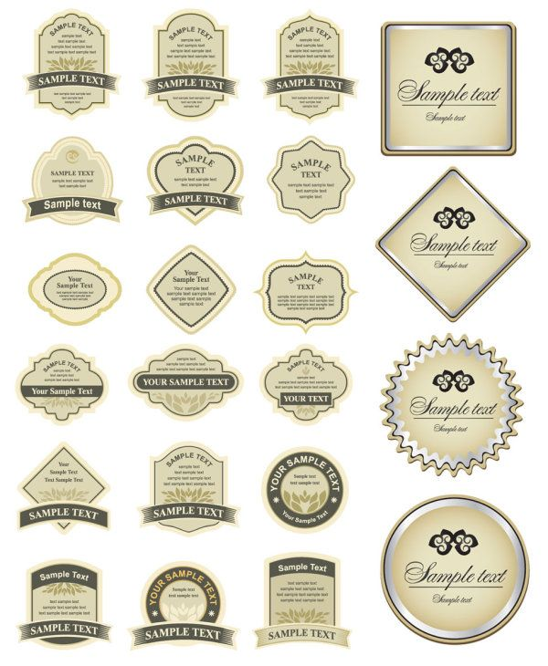 free simple bottle label affixed vector vector pinterest rh pinterest ca free vector label design free vector labels vintage