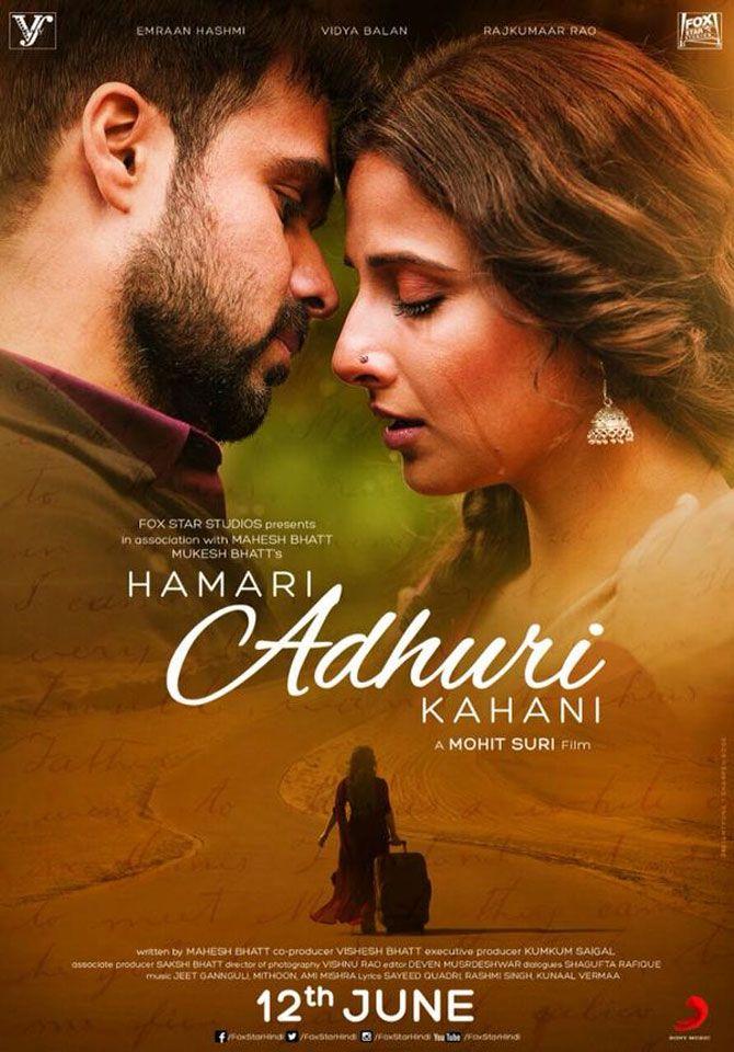 Emraan Hashmi Vidya Balan S Hamari Adhuri Kahani Poster Out Hd Movies Download Hindi Movies Online Hindi Movie Song
