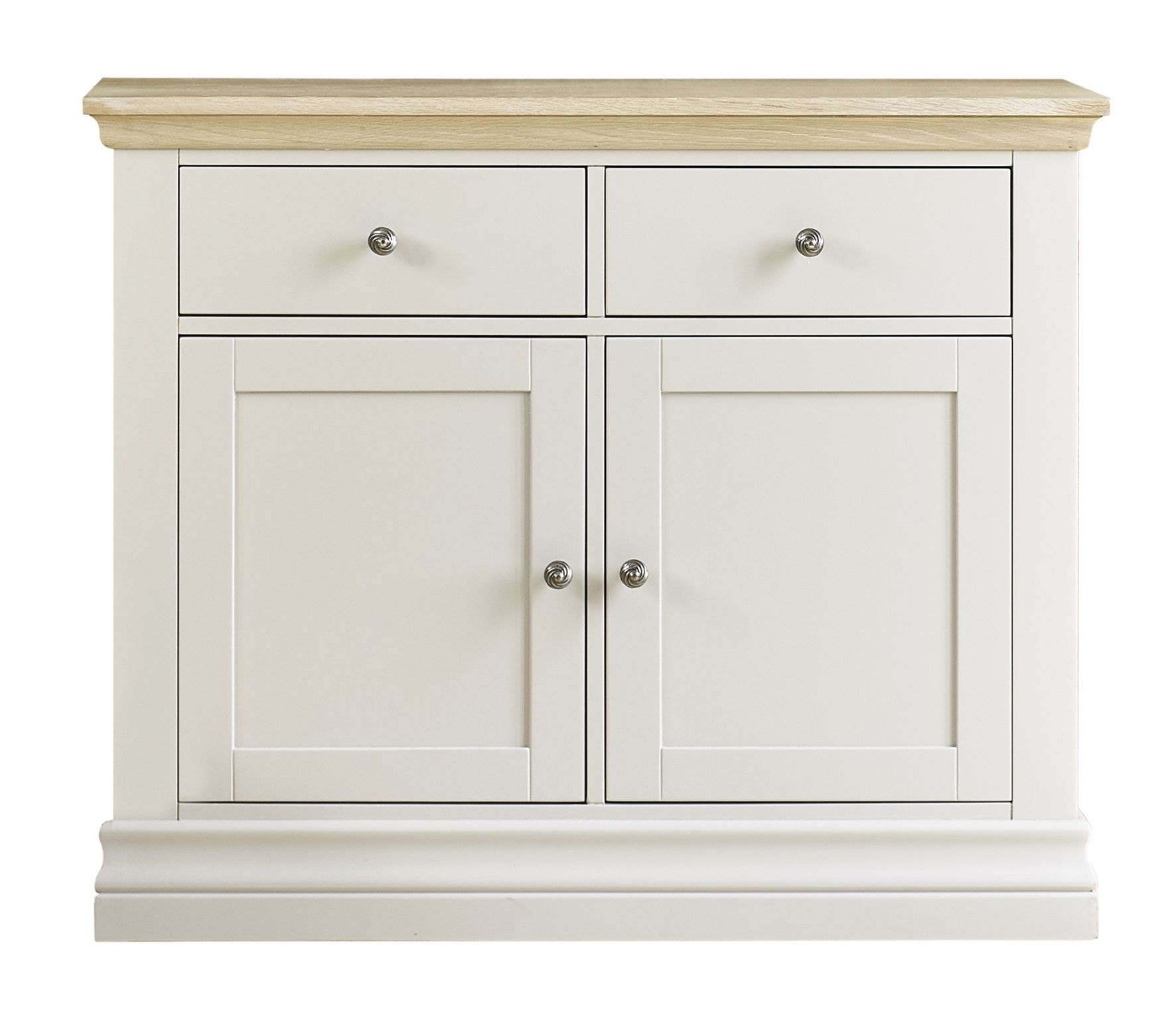 Corndell Annecy Small Sideboard hand painted in Cotton a pale grey ...