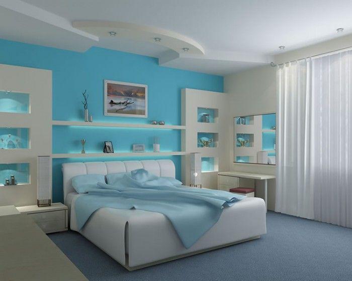 Yatak Odasi Turkuaz Rengi Ev Dekorasyon Fikirleri Villa