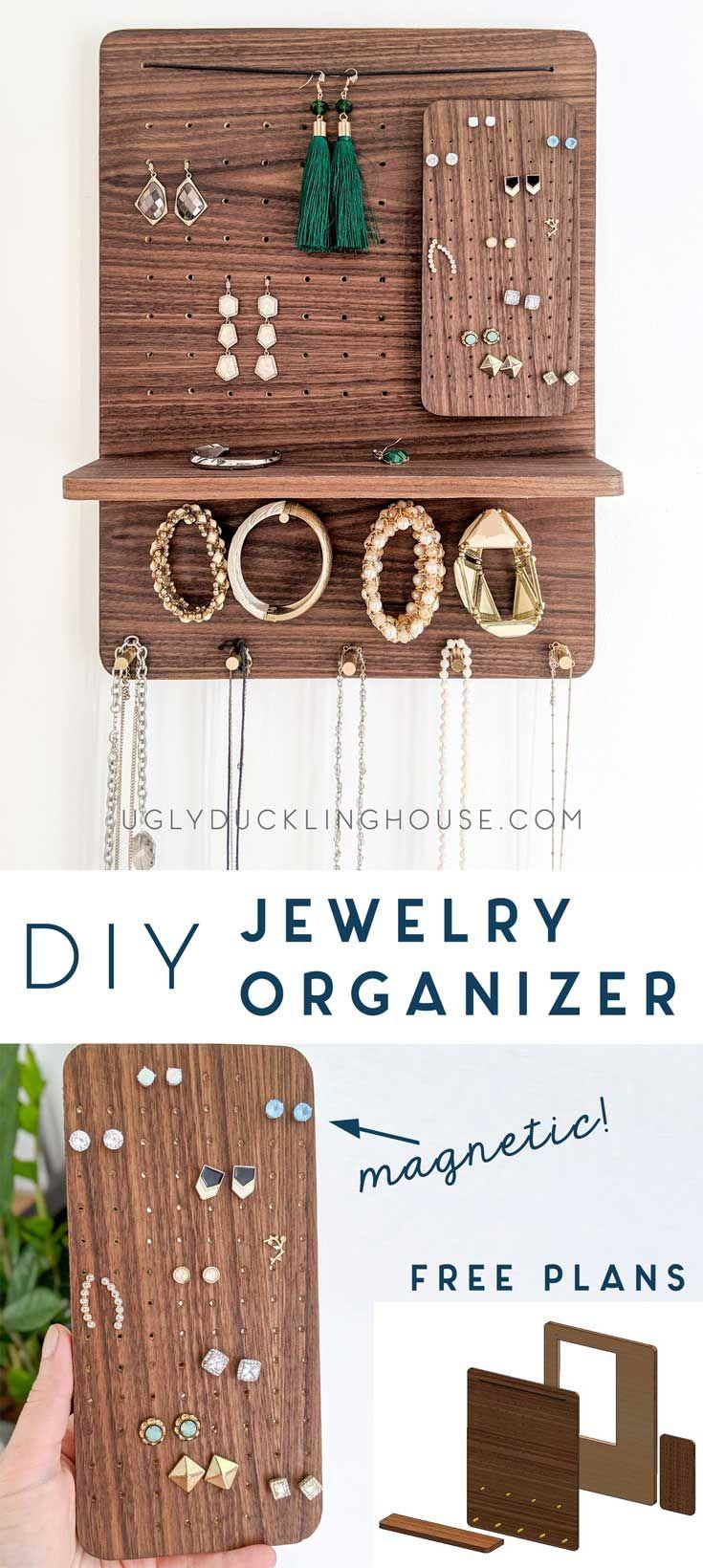 DIY Magnetschmuck Organizer