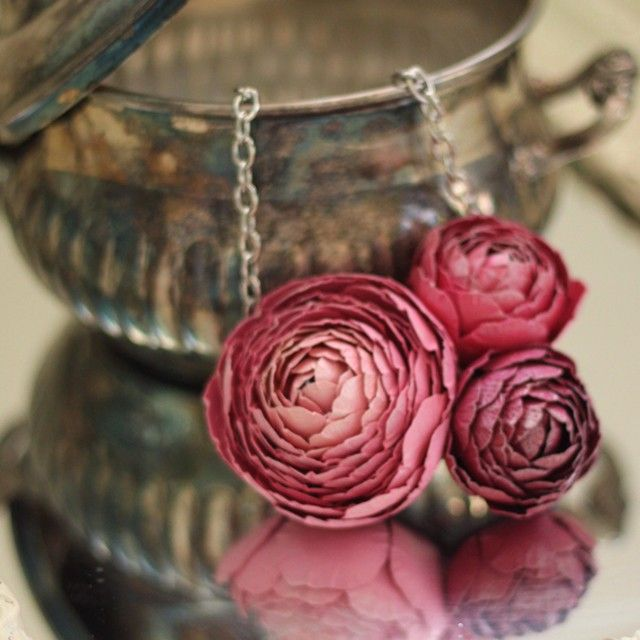 Paper Ranunculus Jewelry Amazing I Just Love Paper Floral Jewellery Floral Garden Necklace