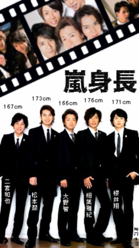 Johnny's height ranking - Arashi