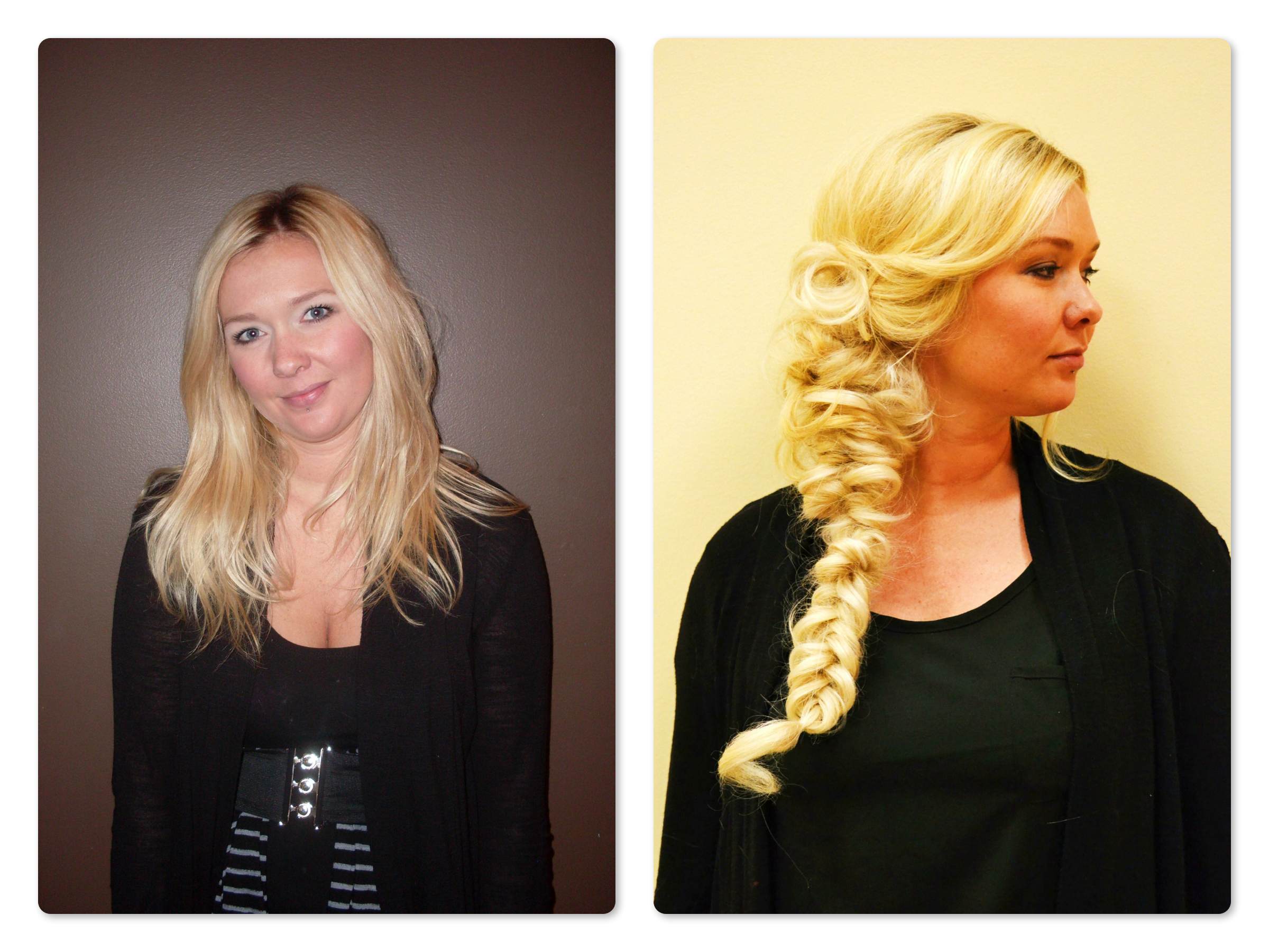 Before And After Balmain Clip On Extensions Tacoma Salon