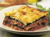 Beef and silverbeet lasagne