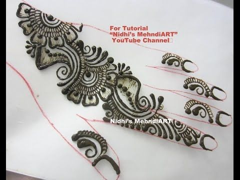 Mehndi Drawing Pictures : Simple repeatable shaded arabic henna mehndi design tutorial
