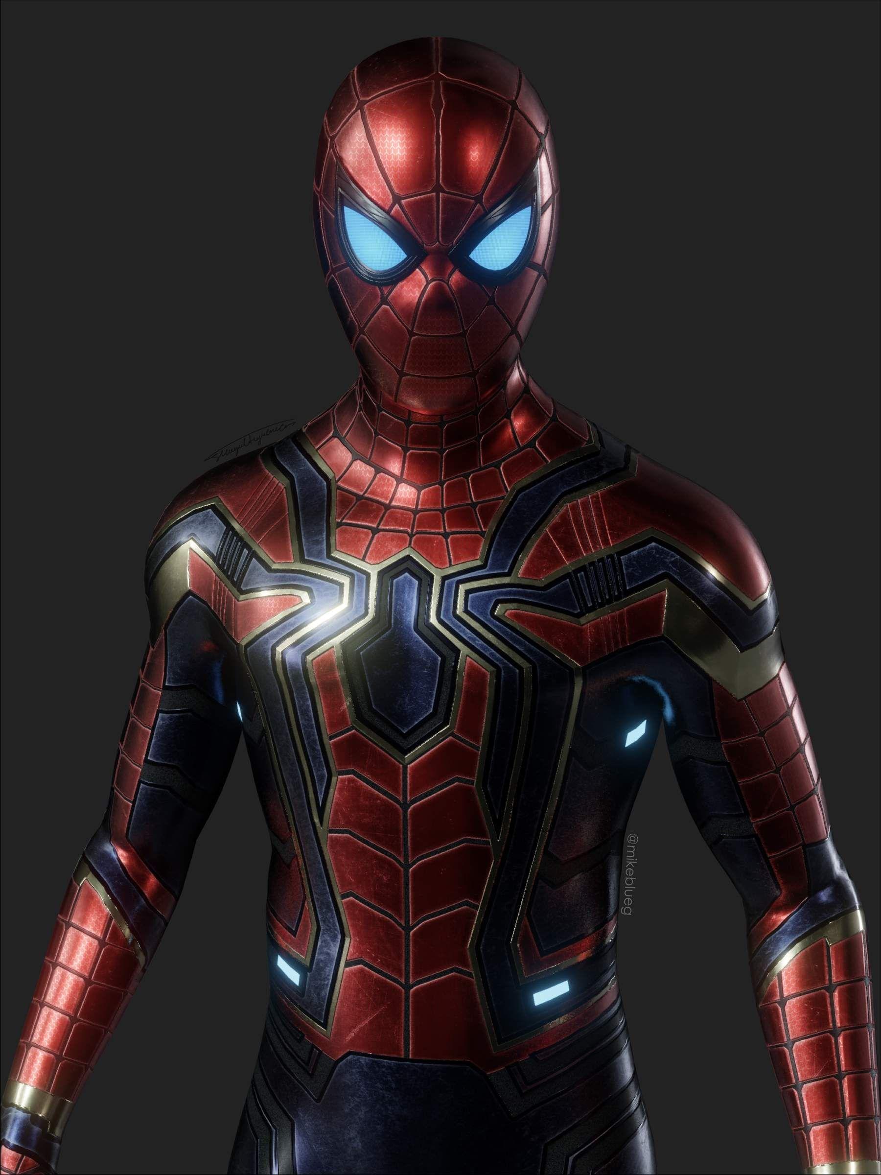 Iron Spider Avengers Suit 3d Model In 2020 Marvel Comics Wallpaper Iron Spider Avengers