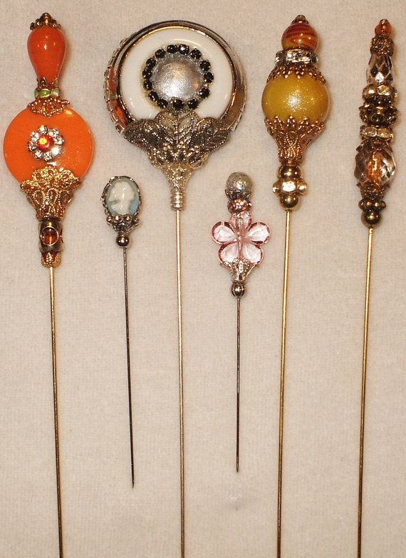 6 Antique Style Victorian Hat Pins With Vintage And Antique Hat Pins Victorian Hats Antique Hats