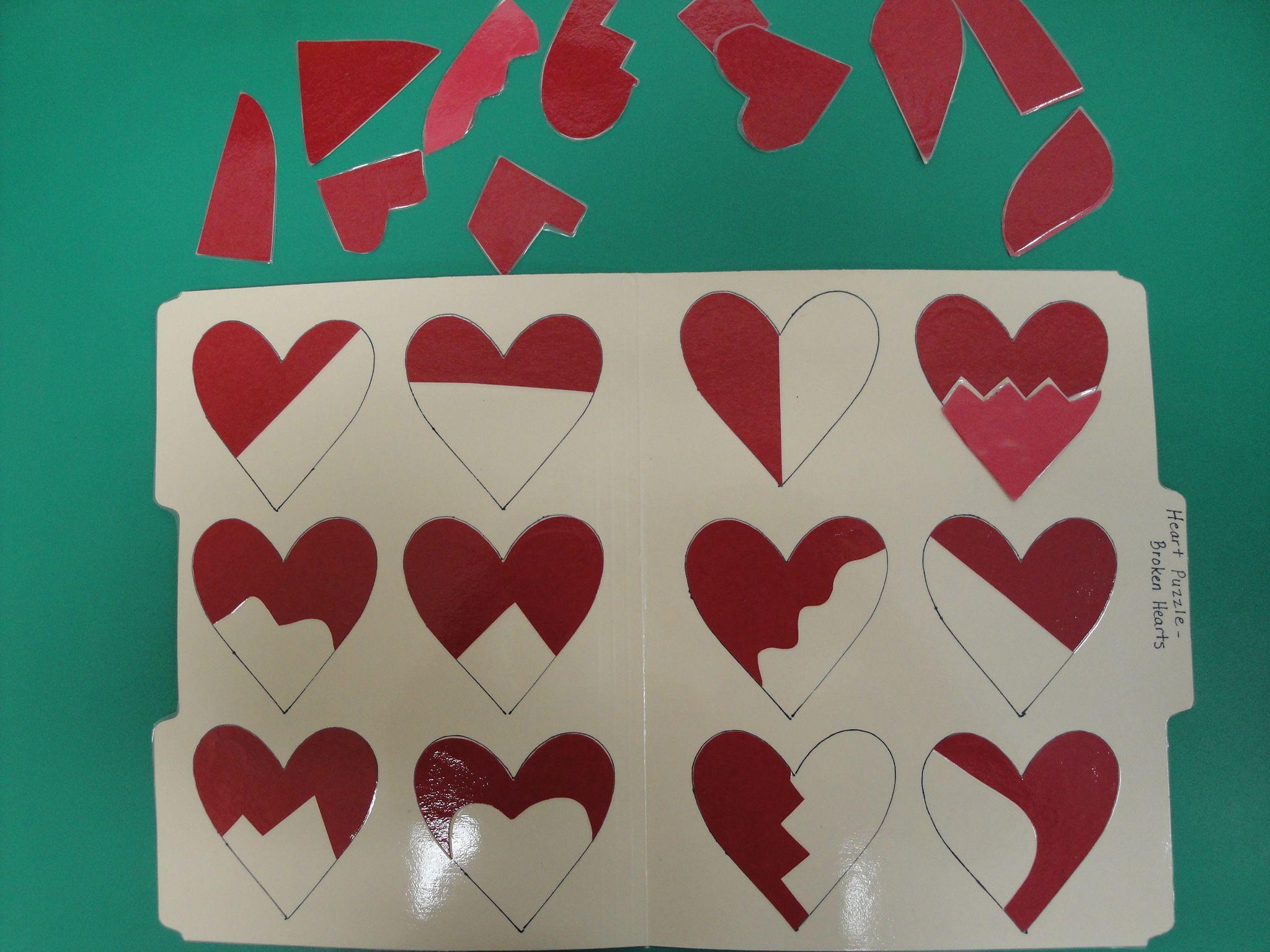 Valentine File Folder Game Ed For Game Time At Vday