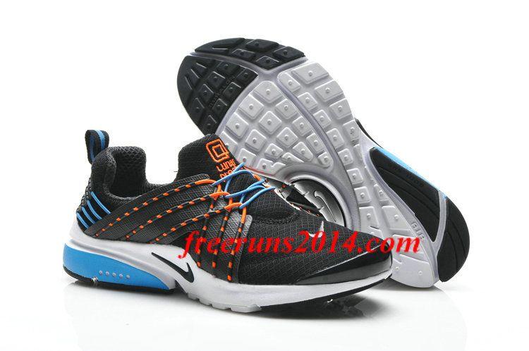 Mens Nike Lunar Presto Black Blue Orange Shoes