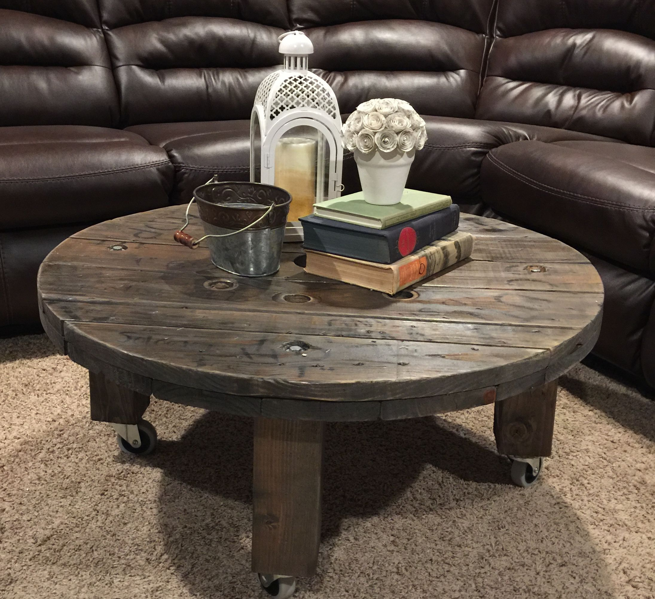 Wire spool coffee table House Pinterest