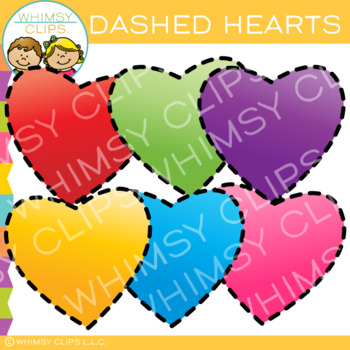 Free Dashed Hearts Clip Art #clipartfreebies Free Dashed Hearts Clip Art by Whimsy Clips | Teachers Pay Teachers #clipartfreebies