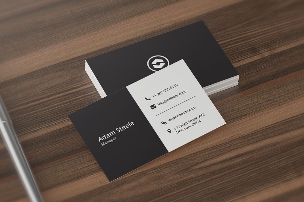 Minimal business card template minimal business card card minimal business card template reheart Images